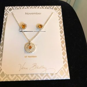 Vera Bradley November necklace & earrings